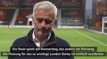 """""""Wunderbar!"""" Ironischer Mourinho vor London-Derby"""
