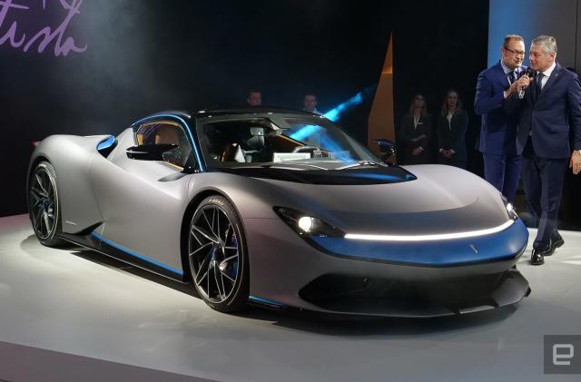 Pininfarina's 1900 horsepower Battista EV will go over 217 MPH