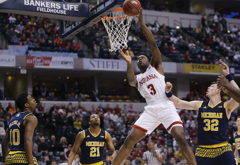 OG Anunoby averaged 11.1 points, 5.4 rebounds and 1.4 assists last season for Indiana. (AP)