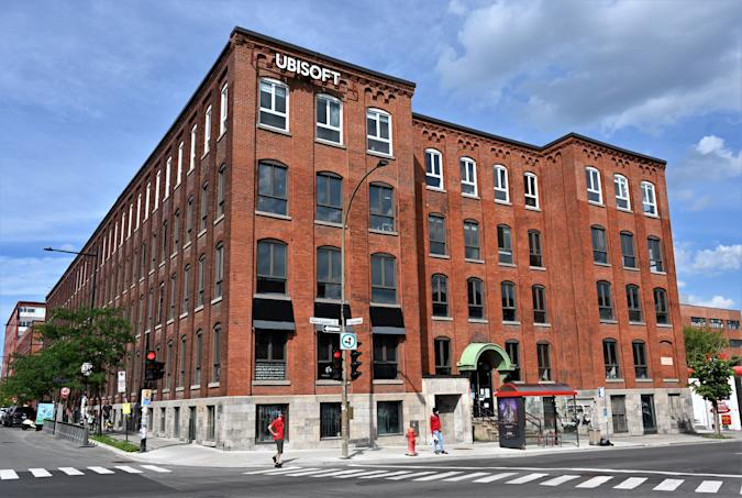 French videogame giant Ubisoft's Montreal office is seen on July 18, 2020 in Quebec, Canada. - Ubisoft Montreal is the largest videogame development studios in the world. (Photo by Eric THOMAS / AFP) (Photo by ERIC THOMAS/AFP via Getty Images)