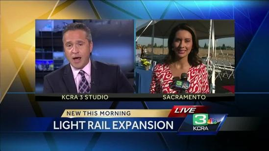 Light rail extension project begins in Sacramento today