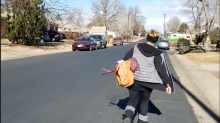 Woman tracks a porch pirate and confronts her on video: 'No way is this happening to me'