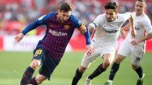 Messi treble fires Barcelona to thrilling win over Sevilla
