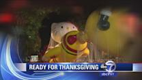 Balloons inflated for Macy's Thanksgiving Day Parade