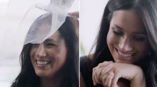 Meghan Markle giggles and dons silly hats in unseen Vogue video
