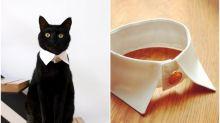 日本貓奴品味之選 白色恤衫領變貓紳士
