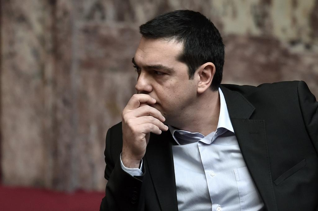 Greece's Prime Minister Alexis Tsipras will plead with European counterparts at a summit in Brussels to release vital funds to help his debt-laden country stave off a looming cash crunch (AFP Photo/Aris Messinis)
