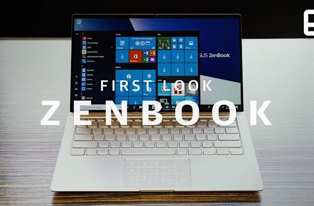 ASUS' new ZenBooks have the thin bezels that 2018 demands