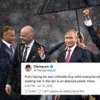 Vladimir Putin's lonely World Cup umbrella is ripe for an internet roasting