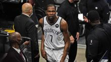 Nets' Kevin Durant leaves game, ruled out after suffering thigh injury vs. Heat in first quarter