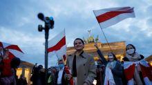 Tichanowskaja wirbt in Deutschland um Unterstützung für Proteste in Belarus