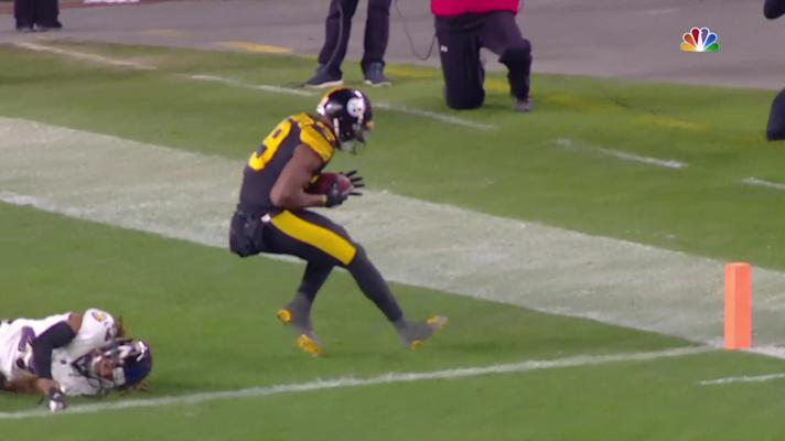 Big Ben zips pinpoint TD pass to JuJu Smith-Schuster