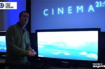 Philips' 56-inch Cinema 21:9 HDTV gets showcased on video