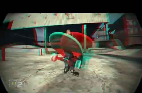 Skate 2 enables red/blue 3D mode via cheat code
