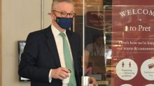 Michael Gove dons face mask on return to Pret after backlash for not wearing one