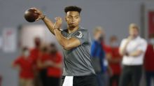 Bill Belichick didn't attend QB prospect Justin Fields' second pro day, but several Patriots execs did