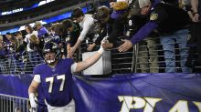 John Harbaugh gives his thoughts on Ravens' revamped offensive line so far