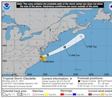 Claudette is a tropical storm again, and there's another disturbance in the Atlantic