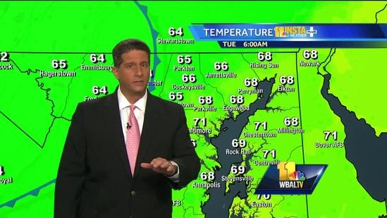Tony: Storms possible, but nothing like yesterday