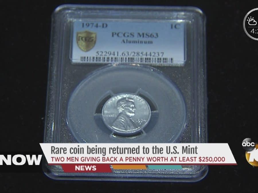 California man gives $2 million aluminum penny back to U S  Mint