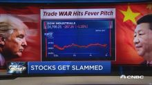 These stocks are getting slammed as the trade war hits a ...