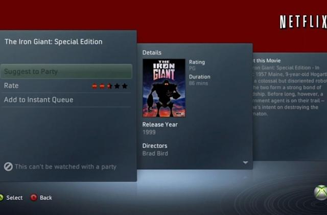 Xbox Netflix Movie Parties: Some restrictions apply [update]