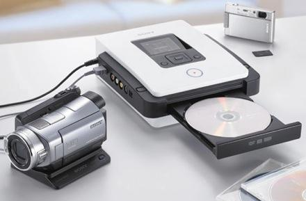 Sony's VRD-MC5 DVD burner: one-touch HD copies for AVCHD Handycams