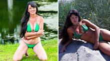 'Britain's oldest glamour model', 68, poses for photoshoot in bikini first worn in her 20s