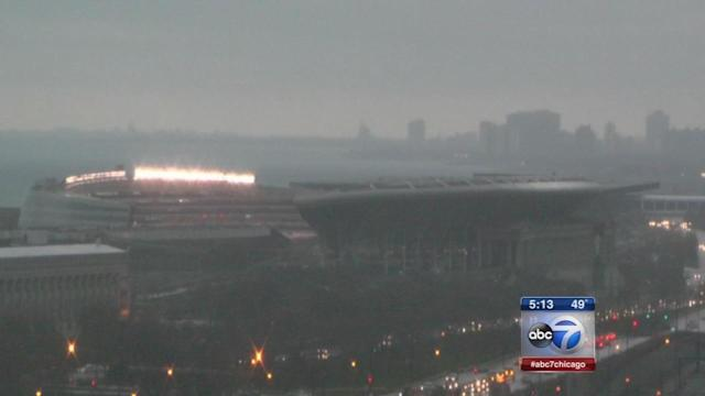 Severe weather outbreak delays Bears game at Soldier Field