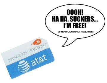 """AT&T offers SIM-only service, attempts to maintain """"most open"""" status"""