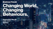 """""""Changing World, Changing Behaviours"""": iscriviti gratuitamente al webinar sulle tendenze del business"""