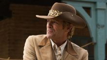 Watch Luke Perry and Timothy Olyphant in Once Upon a Time in Hollywood deleted scene
