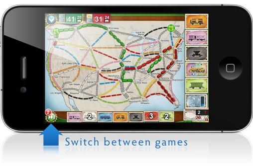 Ticket to Ride Pocket updates, adds asynchronous mode