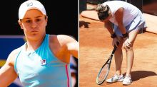 Massive plot twist as Ash Barty continues clay-court dominance