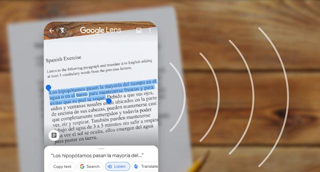 Google Lens can now help you pronounce the words it translates