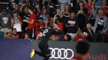 Railing at brand-new Audi Field falls, hits D.C. United sideline reporter