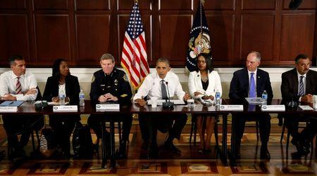 U.S. President Barack Obama hosts a conversation on community policing and criminal justice at the White House in Washington