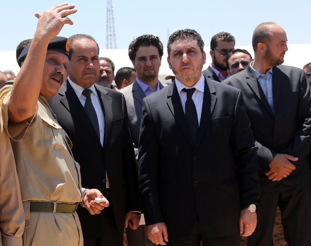 The head of the unrecognised Islamist regime in Tripoli, Khalifa Al-Ghweil (pictured C in June 2015), met with Russian Foreign Minister Sergei Lavrov on December 23 in Moscow for talks on the countries' relationship