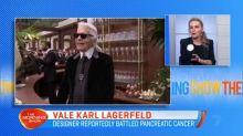 Fashion world mourns Karl Lagerfeld