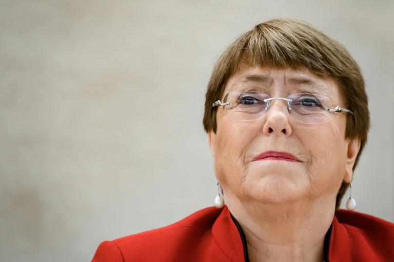 United Nations High Commissioner for Human Rights Michelle Bachelet (pictured February 2020) insisted that the grievances at the heart of the protests that have erupted in hundreds of US cities needed to be heard and addressed if the country (AFP Photo/Fabrice COFFRINI)