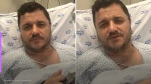 "Após infarto, Mauricio Manieri grava vídeo no hospital: ""Foi um milagre"""