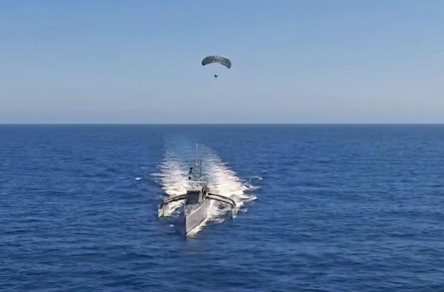 DARPA tests parasailing radar with its robotic boat