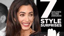 Golden Globes 2015 Style Surprises: Amal Clooney's Gloves, Jennifer Aniston's Updo & More