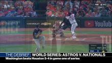 Washington wins first game in World Series