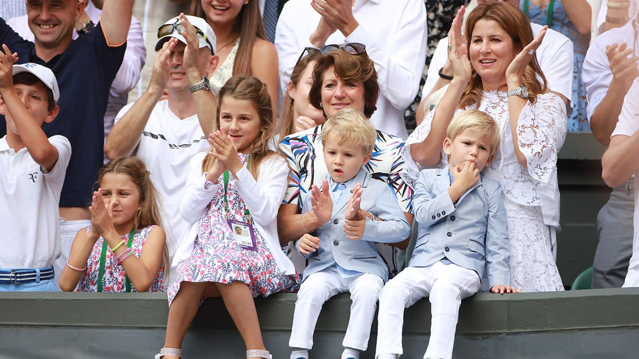 Federer's son steals the show during Australian Open match