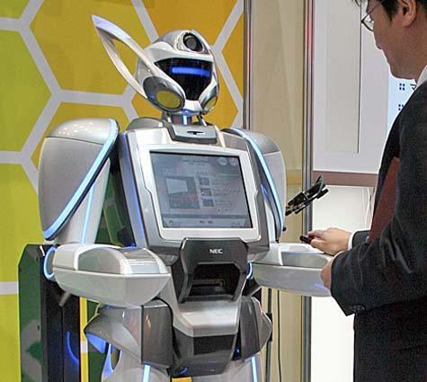 Robot ticketer greets amusement park visitors, offers frightening glimpse of the future