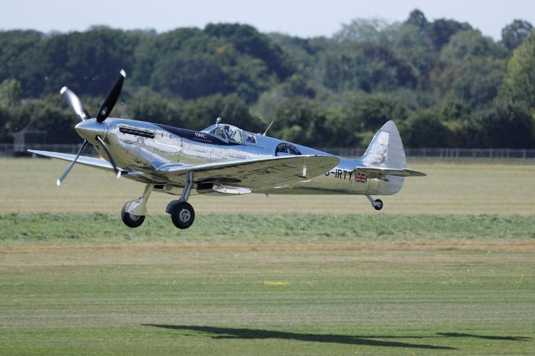 The 43,500-kilometre (27,000-mile) adventure westwards around the globe will be the first time a Spitfire will ever have circumnavigated the planet (AFP Photo/Adrian DENNIS)