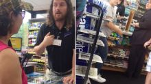 Shop worker tells customers to 'go back to their country'