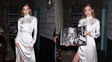 Brautalarm? Gigi Hadid im Hochzeitskleid in New York