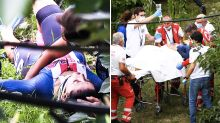 Cycling champion rushed to hospital after 'horrifying' crash